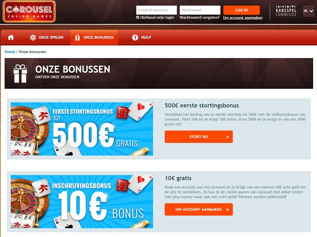 Gratis bonus casino spelen